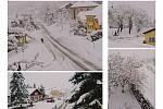 Zima v dubnu stále nekončí. Tak to vypadalo na Prachaticku 28. dubna.