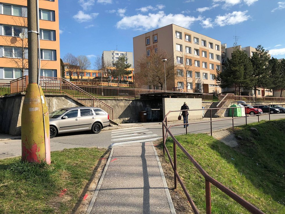 Mírová ulice ve Vimperku před plánovanou rekonstrukcí.