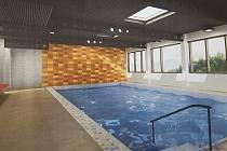 Nový vzhled prachatického plaveckého bazénu podle studie Radka Steinhaizla.