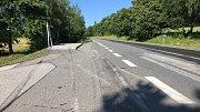 Zastávku autobusu v Pěčnově porazil řidič při dopravní nehodě.
