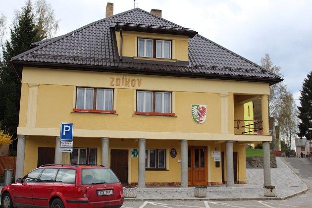 Zdíkov, budova obecního úřadu. Ilustrační foto