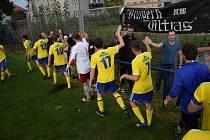 Vimperští fotbalisté vyhráli ve Vodňanech 1:0.