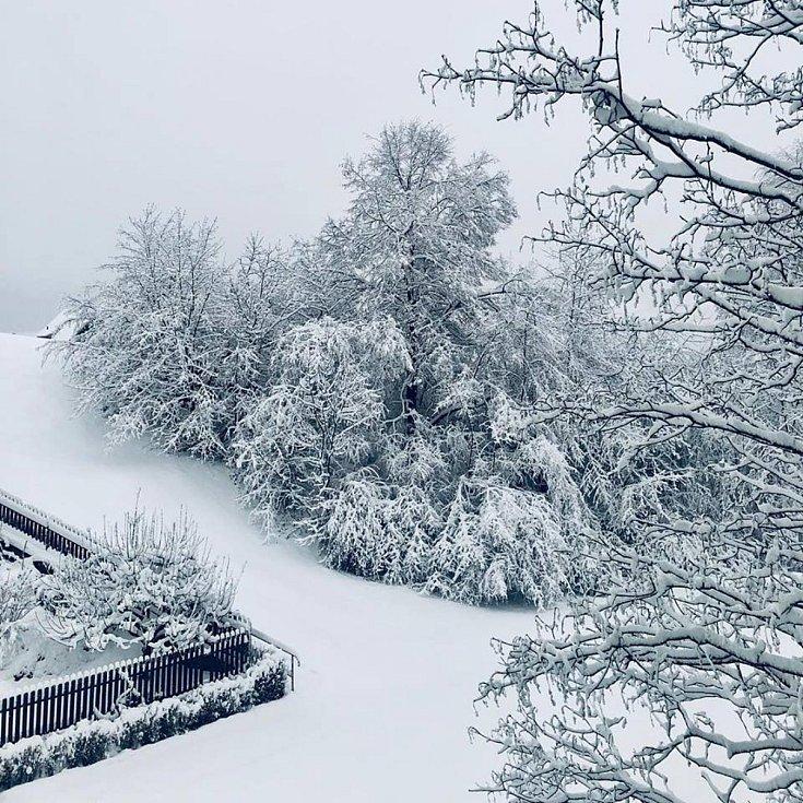 Pohled na bílé Prachatice.