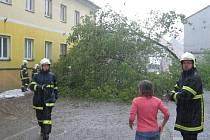 Středeční průtrž mračen ve Volarech.