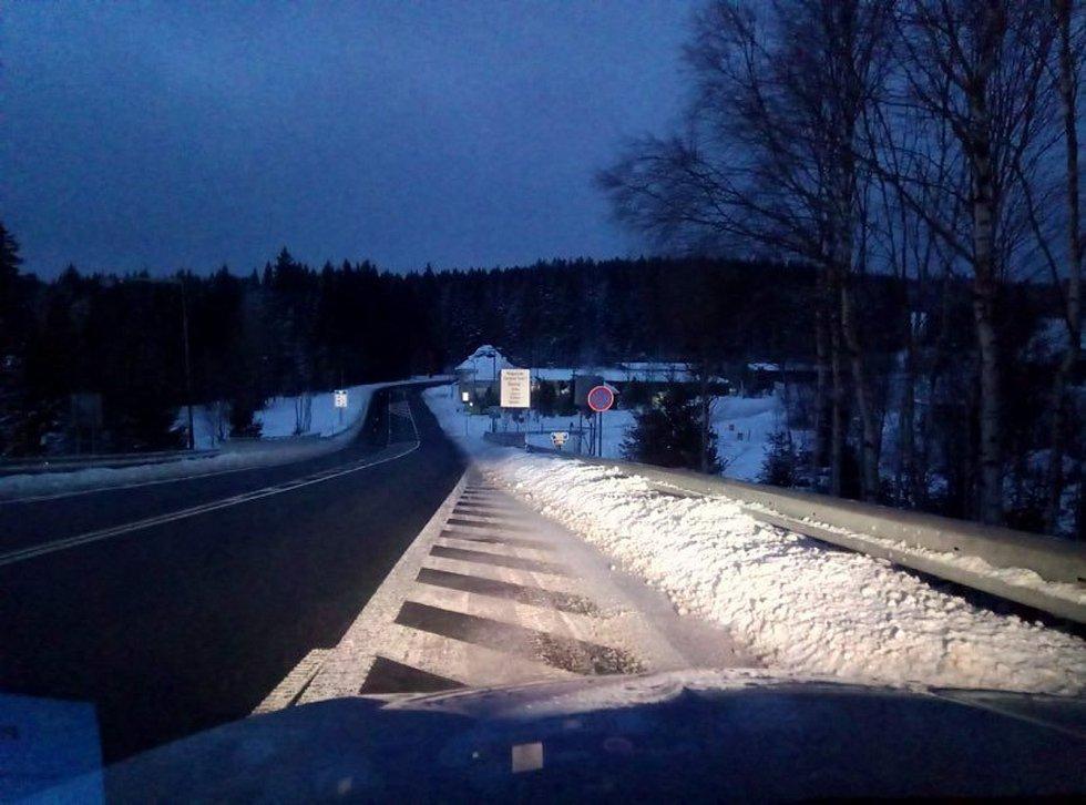 Středeční ráno na přechodu Strážný - Philippsreut.