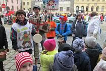 Masopust v podání žáků a pedagogů ze Základní školy Zlatá stezka 240 v Prachaticích.