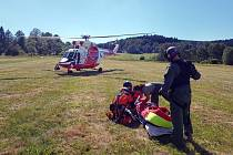 Zásah vrtulníku Letecké záchranné služby na Šumavě. Ilustrační foto.