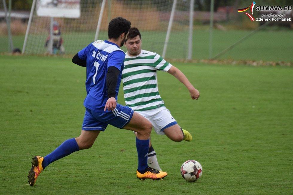 Fotbalová I.B třída: Vacov - Čkyně 0:2.