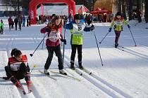 Pátý ročník Šumavské 30 lyžařů klasiků - závody mládeže.