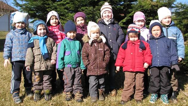 Děti v Mateřské škole v Lažištích.