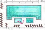 Půdorys budoucí podoby plaveckého bazénu ve Volarech.
