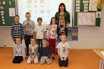 První třída v Základní škole ve Strunkovicích nad Blanicí.