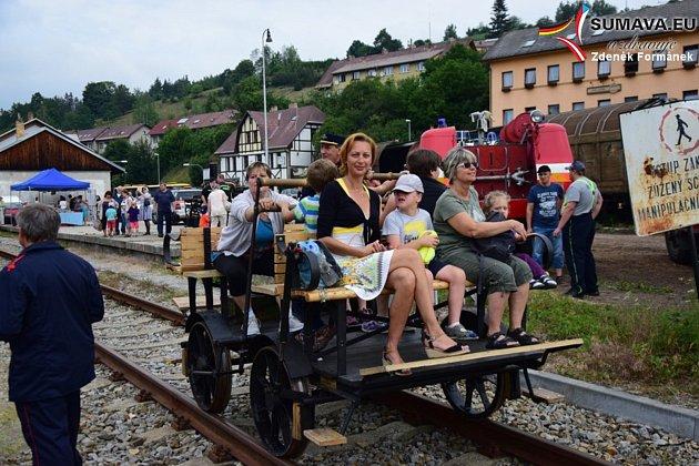 Oslavy 125. výročí železniční tratě Vimperk - Strakonice.