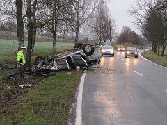 Dopravní nehoda u obce Hracholusky.