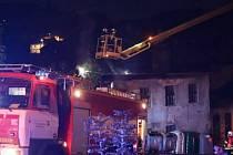 Ve Vimperku hořel v noci na sobotu 3. října objekt bývalé Jitony.