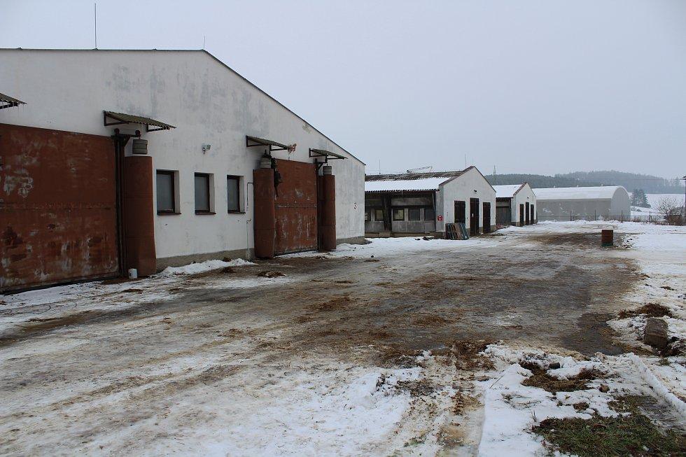 Ještě v úterý 31. ledna večer se po hale ve Vlachově Březí proháněla kachňata, ve středu je zlikvidovali veterináři. Ve čtvrtek 2. února je celý areál opuštěný a na dveřích je cedule, že je tam výskyt viru ptačí chřipky.
