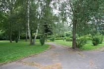 Park Mládí v Prachaticích v lokalitě U Rybníčků.