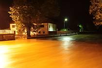 Část protipovodňových opatření už je hotova. Pročištění koryta Blanice nad Husincem letos v červnu hodně pomohlo.