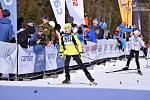 Mladí lyžaři soutěžili na distancích od jednoho do pěti kilometrů volnou technikou.
