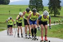 Lyžaři soutěžili na Šumavě na kolečkách.