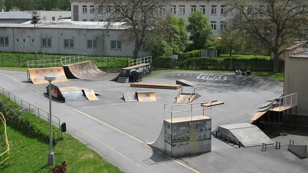 Současný stav skate areálu v Prachaticích.