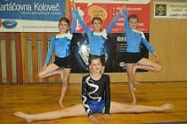 Vimperské gymnastky zacvičily v Pelhřimově velice dobře.