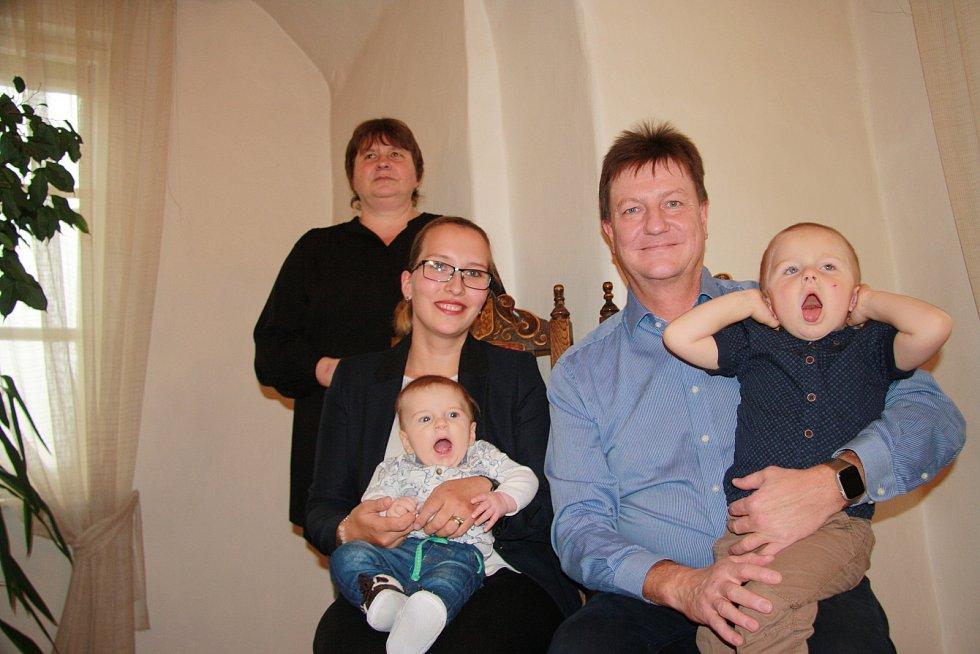 David Franz s rodinou.