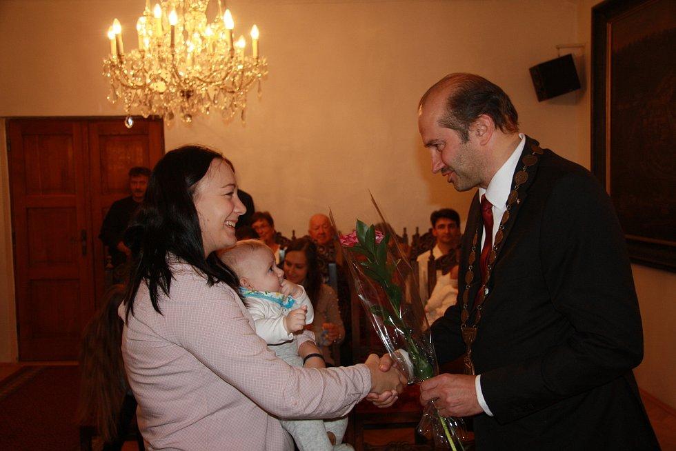 Tomáš Horník s rodinou.