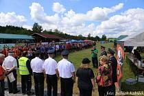Ojedinělé hasičské klání Jih proti západu se konalo v Budilově.