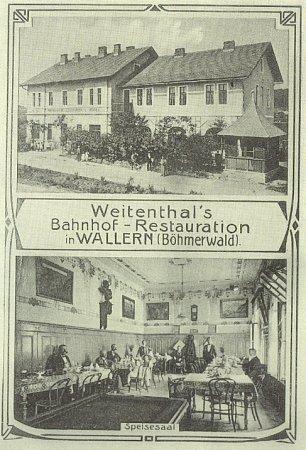 Historický pohled na objekt hotelu a do jeho inetriéru