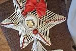 Vánoční dekorace vyrobené s láskou od Jaroslavy Dejmkové z Husince.
