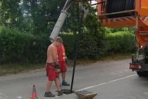 Kanály se čistily nejnovější technikou.