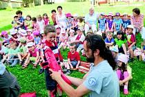 Strážci Parku vyprávěli dětem o životě v přírodě.