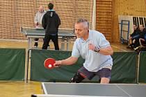 Soutěže stolních tenistů pokračovaly dalšími zápasy. Ilustrační foto.