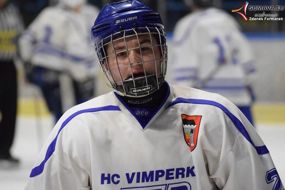 Vimperští hokejisté nevezou z Humpolce žádný bod. Ilustrační foto.