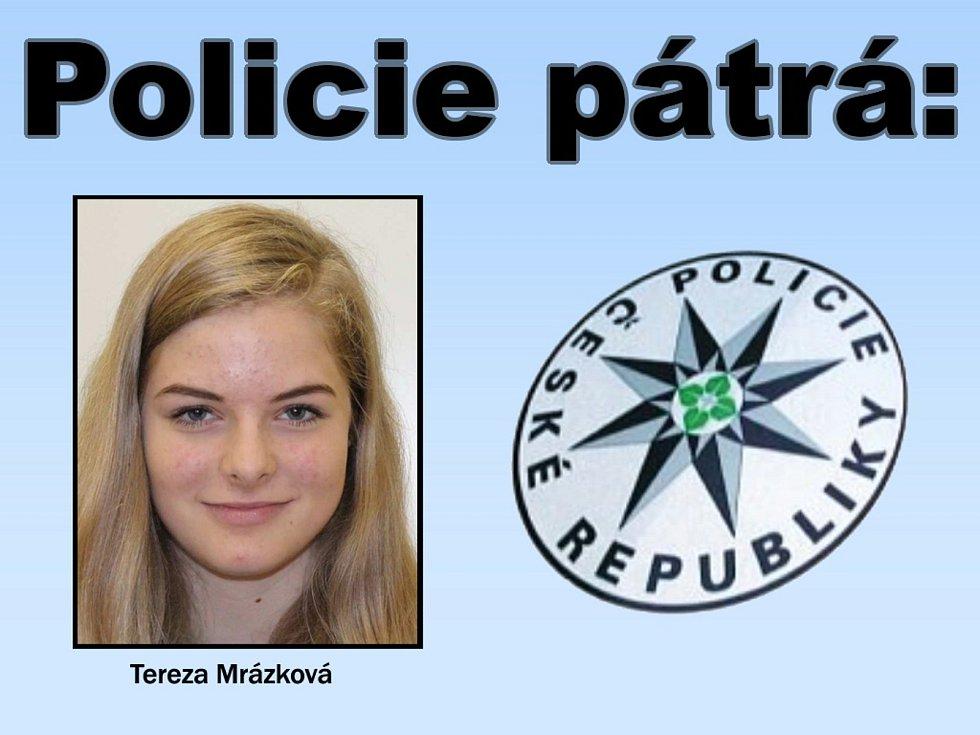 Policisté pátrají po sedmnáctileté Tereze Mrázkové z Bohumilic.