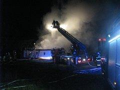 Požár v Kratušíně.