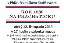 Rok 1989 na Prachaticku
