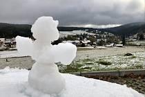 První sněhulák z Kvildy.