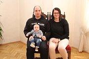Filip Marek a jeho rodiče.