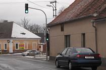 Semafor v Němčicích.