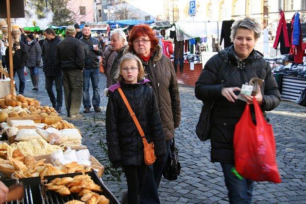 Vánoční trhy v Prachaticích.