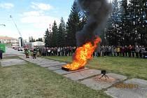 Exkurze u prachatických hasičů.