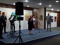 Zahájení výstavy Salve v Bratislavě.