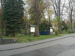 Štěpánčin park v Prachaticích.