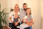 Tobiáš Pravda se rodičům Lence a Jiřímu Pravdovým narodil 29. března.