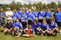 Turnaj ve Zbytinách vyhráli fotbalisté Stožce.