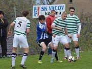 Snímek z dubnového utkání Vacov - Blatná 3:2. Vacov bodoval naplno i o víkendu, kdy porazil v derby Vimperk.