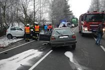 Dopravní nehoda mezi Žernovicemi a Vitějovicemi.