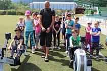 Děti z Prachatic a okolí si v rámci akce Pojď si vybrat, co tě baví, vyzkoušely řadu sportů.
